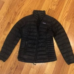Patagonia Down Sweater Puffy Jacket Coat XS Black